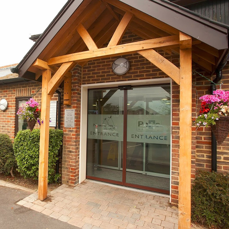 The exterior of PETS Veterinary practice at Newnham Court in Maidstone.