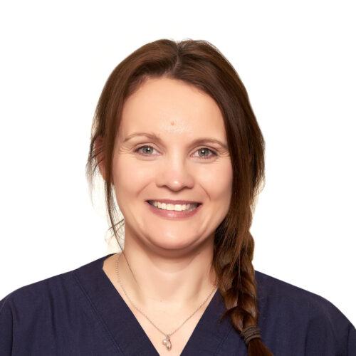 Sarah Dunton. Veterinary nurse at Pattenden Vets in Marden, Kent.